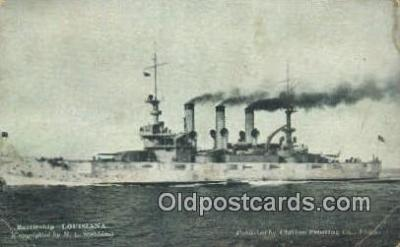 shi003699 - Battleship Louisiana Military Battleship Postcard Post Card Old Vintage Anitque