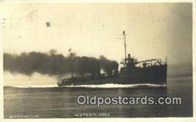 shi003703 - USTBD Flusser Military Battleship Postcard Post Card Old Vintage Anitque
