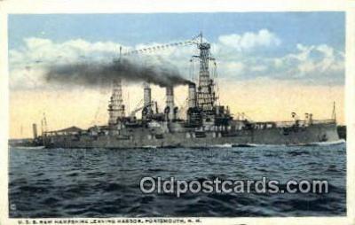 shi003708 - USS New Hampshire Military Battleship Postcard Post Card Old Vintage Anitque
