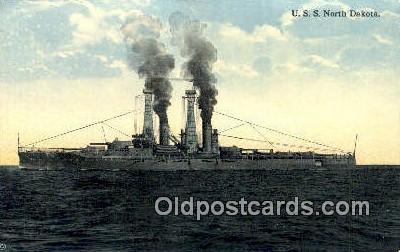 shi003709 - USS North Dakota Military Battleship Postcard Post Card Old Vintage Anitque