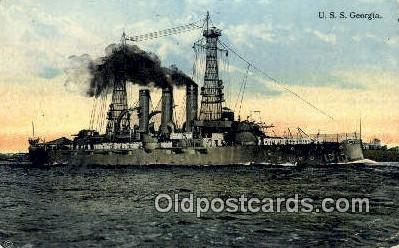 shi003710 - USS Georgia Military Battleship Postcard Post Card Old Vintage Anitque