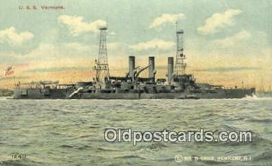 shi003713 - USS Vermont Military Battleship Postcard Post Card Old Vintage Anitque