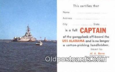 shi003735 - USS Alabama Military Battleship Postcard Post Card Old Vintage Antique