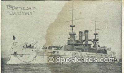 shi003737 - Ship Louisiana Military Battleship Postcard Post Card Old Vintage Antique