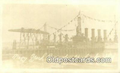shi003742 - Navy Yard Bremerton Washington USA Military Battleship Postcard Post Card Old Vintage Antique