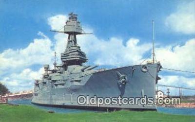 shi003745 - Ship Texas, Houston, Texas, TX USA Military Battleship Postcard Post Card Old Vintage Antique