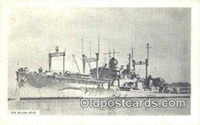 shi003746 - USS Arcadia Military Battleship Postcard Post Card Old Vintage Antique