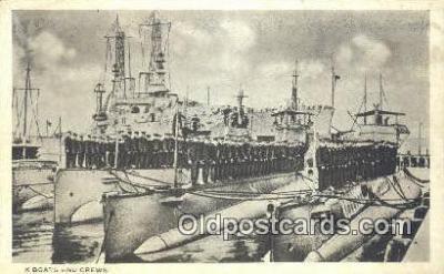 shi003747 - K Boats Military Battleship Postcard Post Card Old Vintage Antique