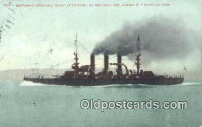 shi003755 - USS Nebraska Military Battleship Postcard Post Card Old Vintage Antique