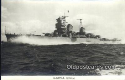 shi003759 - Marina 08116-a The Kornor Military Battleship Postcard Post Card Old Vintage Antique