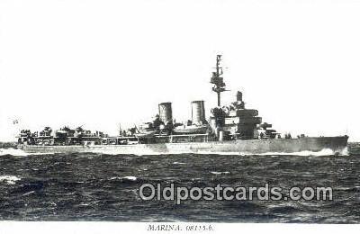 shi003760 - Marina 08115-b Gotland Military Battleship Postcard Post Card Old Vintage Antique