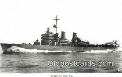 shi003761 - Marina 08115-a Gotland Military Battleship Postcard Post Card Old Vintage Antique