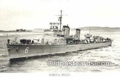 shi003763 - Marina 08113-b Stockholm Military Battleship Postcard Post Card Old Vintage Antique