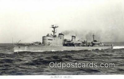 shi003765 - Marina 08133-c Stockholm Military Battleship Postcard Post Card Old Vintage Antique