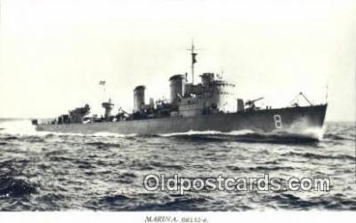shi003766 - Marina 08135-a Karlskorna Military Battleship Postcard Post Card Old Vintage Antique