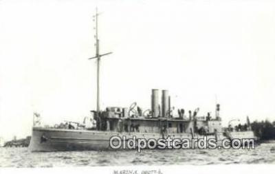 shi003767 - Marina 08077-b Skaggland Military Battleship Postcard Post Card Old Vintage Antique