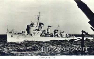 shi003769 - Marina 08137-a Norrkoping Military Battleship Postcard Post Card Old Vintage Antique