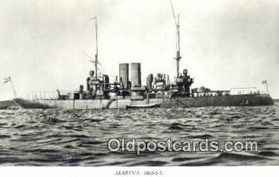 shi003771 - Marina 08095-b Gota Military Battleship Postcard Post Card Old Vintage Antique