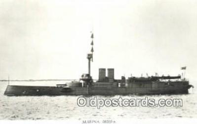 shi003772 - Marina 08095-a Gota Military Battleship Postcard Post Card Old Vintage Antique
