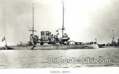shi003773 - Marina 08094-b Svea Military Battleship Postcard Post Card Old Vintage Antique