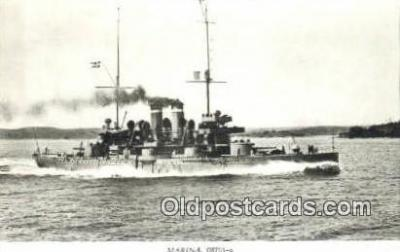 shi003775 - Marina 08101-a Aran Military Battleship Postcard Post Card Old Vintage Antique