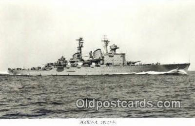 shi003778 - Marina 08117-b Gota Lejon Military Battleship Postcard Post Card Old Vintage Antique