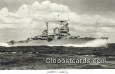 shi003779 - Marina 08117-a Gota Lejon Military Battleship Postcard Post Card Old Vintage Antique