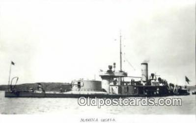 shi003781 - Marina 08081-b Thordon  Military Battleship Postcard Post Card Old Vintage Antique
