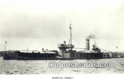 shi003782 - Marina 08082-b Tirfing Military Battleship Postcard Post Card Old Vintage Antique