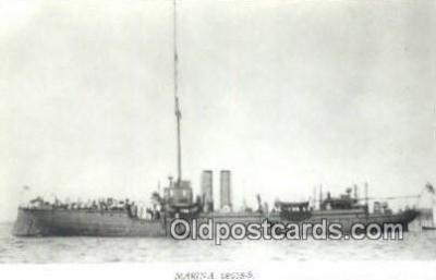 shi003783 - Marina 08078-b Edda Military Battleship Postcard Post Card Old Vintage Antique