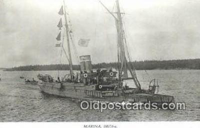 shi003784 - Marina 08078-a Edda Military Battleship Postcard Post Card Old Vintage Antique