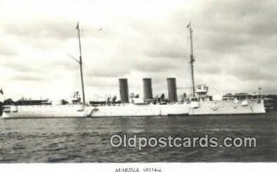 shi003792 - Marina 08114-a Flygia Military Battleship Postcard Post Card Old Vintage Antique
