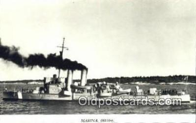 shi003795 - Marina 08110-b Jacob Bagge Military Battleship Postcard Post Card Old Vintage Antique