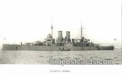 shi003800 - Marina 08100-a Dristingheten Military Battleship Postcard Post Card Old Vintage Antique
