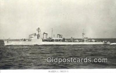 shi003806 - Marina 08135-b Karlskrona Military Battleship Postcard Post Card Old Vintage Antique