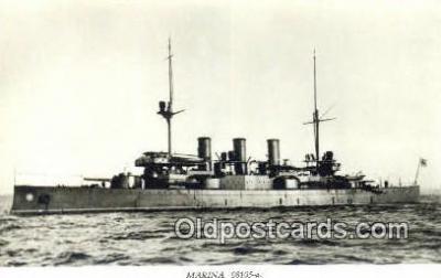 shi003807 - Marina 08105-a Oscar II Military Battleship Postcard Post Card Old Vintage Antique