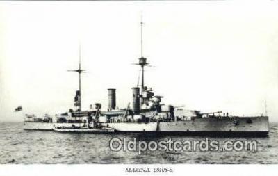 shi003811 - Marina 08108-a Gustaf V Military Battleship Postcard Post Card Old Vintage Antique