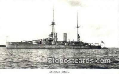shi003812 - Marina 08107-a Drottning Victoria Military Battleship Postcard Post Card Old Vintage Antique