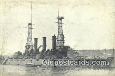 shi003818 - SS Nebraska Military Battleship Postcard Post Card Old Vintage Antique
