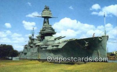 shi003819 - USS Texas, Houston, Texas, TX USA Military Battleship Postcard Post Card Old Vintage Antique