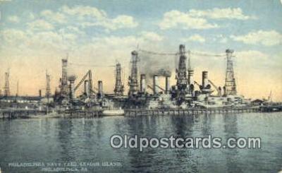 shi003832 - Philadelphia Navy Yard, League Island, Philadelphia, Pennsylvania, PA USA Military Battleship Postcard Post Card Old Vintage Antique