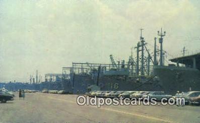 shi003837 - Us Naval Fleet Military Battleship Postcard Post Card Old Vintage Antique