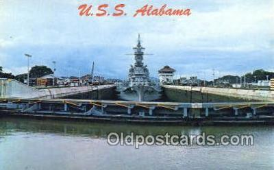 shi003840 - USS Alabama Military Battleship Postcard Post Card Old Vintage Antique