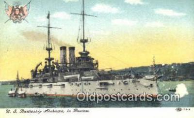 shi003841 - US Alabama Military Battleship Postcard Post Card Old Vintage Antique