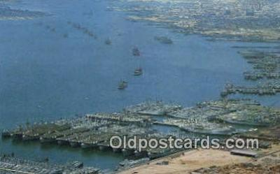 shi003846 - Mothball Fleet, San Diego, California, CA USA Military Battleship Postcard Post Card Old Vintage Antique
