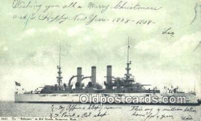 shi003854 - Nebraska Mid Stream, Bremerton, Washington, WA USA Military Battleship Postcard Post Card Old Vintage Antique