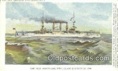 shi003858 - New Hampshire Frist Class Military Battleship Postcard Post Card Old Vintage Antique