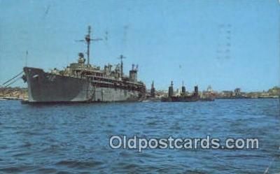 shi003859 - San Diego Harbor, San Diego, California, CA USA Military Battleship Postcard Post Card Old Vintage Antique