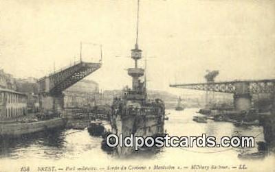 shi003868 - Port Militaire, Montcalm Military Battleship Postcard Post Card Old Vintage Antique