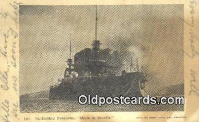 shi003879 - Nebraska Military Battleship Postcard Post Card Old Vintage Antique